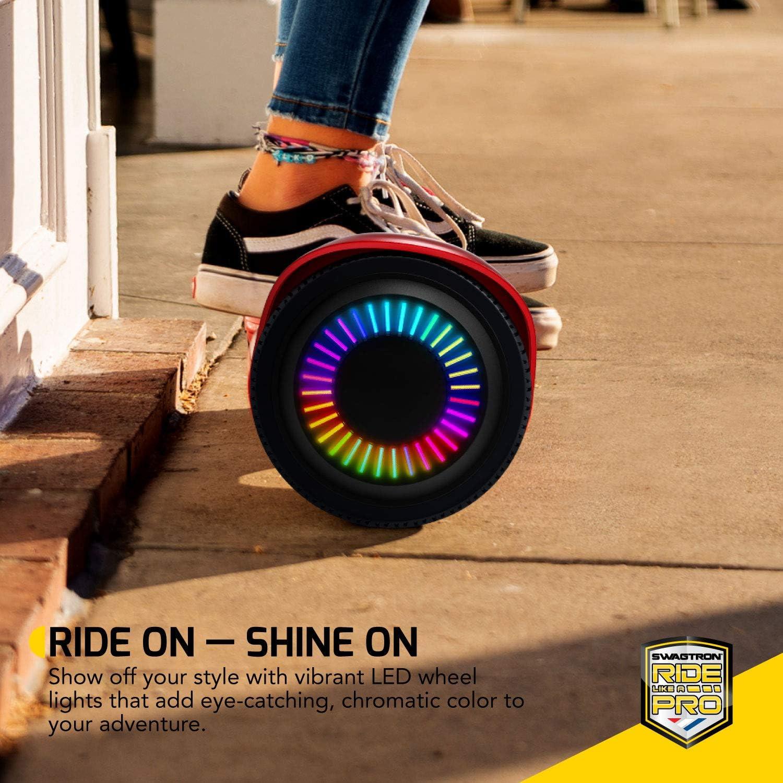 Swagboard Twist Lithium-Free Kids Hoverboard LED Black - 2