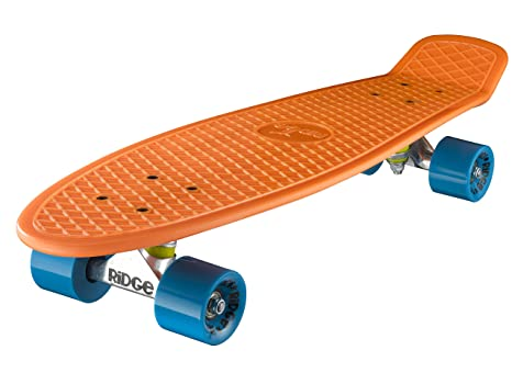 Ridge Skateboards Children Kids Big Brother Large Retro Cruiser-Green//Black Wheels 27 Inch