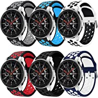 Syxinn Compatibel met 22 mm armband Galaxy Watch 46 mm/Watch 3 45 mm/Gear S3 Frontier/Classic armband siliconen…