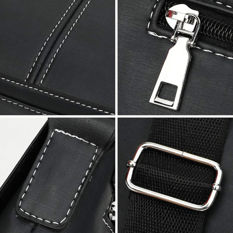Vintage Panelled Men Messenger Bag Personality Contrast Color Crossbody Shoulder Bag For Man Business Man Handbag,Brown,United States
