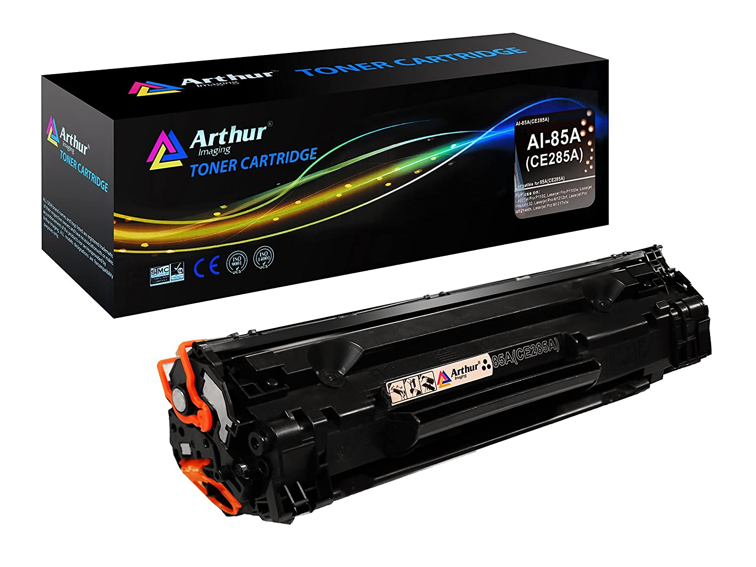 Amazon.com: Arthur Imaging Compatible Toner Cartridge Replacement for  Hewlett Packard CE285A (HP 85A) (Black, 1-Pack): Office Products