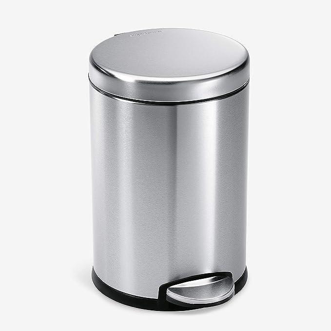 simplehuman Gallon Round Bathroom Step Trash Can
