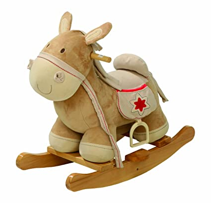 Cavallo A Dondolo Foppapedretti.Roba Cavallo A Dondolo In Legno Con Imbottitura In Stoffa Staffa Di Protezione Cavalcabile Utilizzabile Dai 18 Mesi