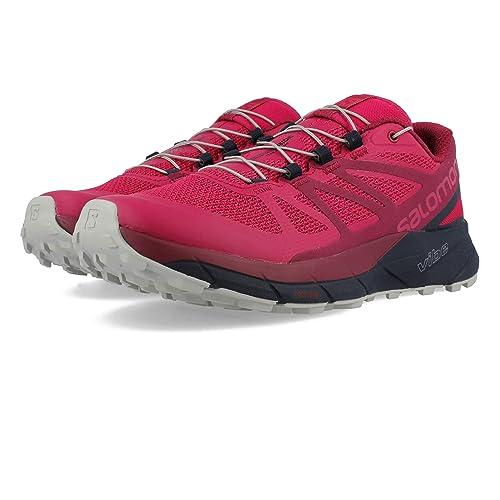 ac7ba3242e40 Salomon Women s Sense Ride Running Trail Shoes Cerise Navy Blazer Vapor Blue  5.5