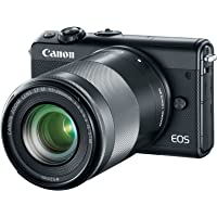 Canon EOS M100 24.02MP Wi-Fi Mirrorless Digital Camera with with 15-45mm Lens & 55-200mm Lens