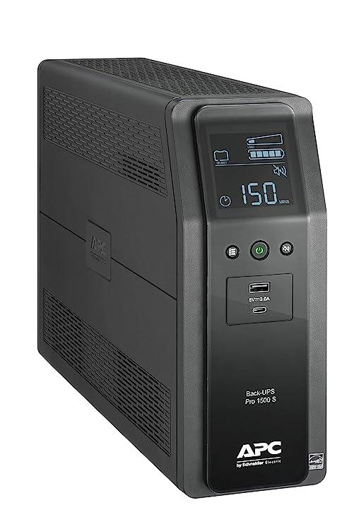 Best UPS Overall: APC UPS 1500VA Sinewave UPS Battery Pro.