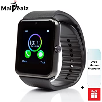 Smart Watch avec carte SIM entrée maidealz GT08 Bluetooth Smart Watch Fitness Watch with Touch Screen ...