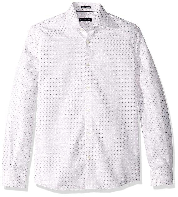 Tommy Hilfiger Men's Dress Shirts Non Iron Slim Fit Print