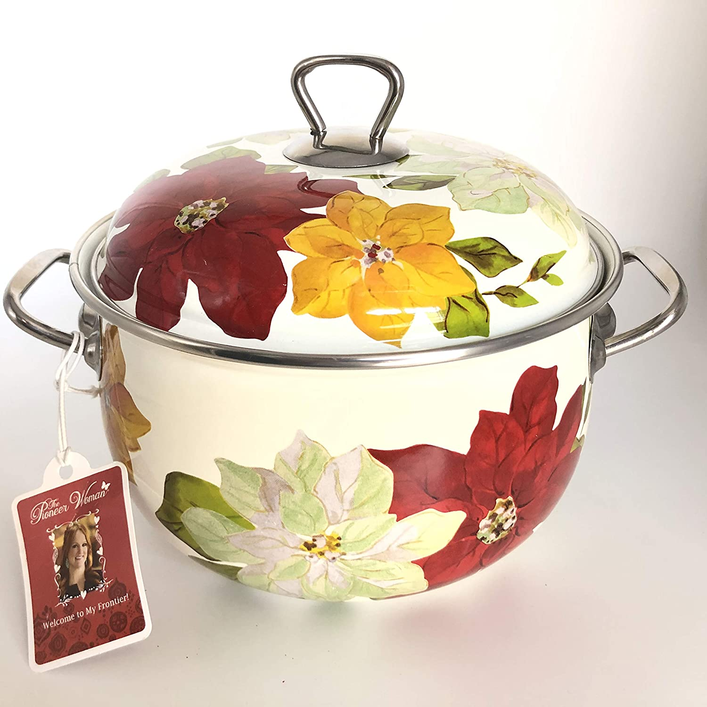 The Pioneer Woman Poinsettia Dutch Oven, 4 qt (1)