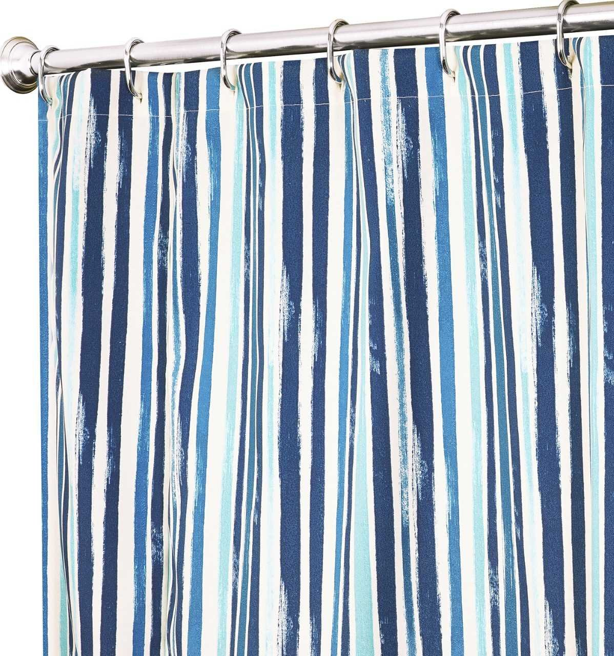 Amazon Shower Curtains For Bathroom Fabric Curtain Beach In Blue Striped Tommy Bahama House Decor Print 72 X Home