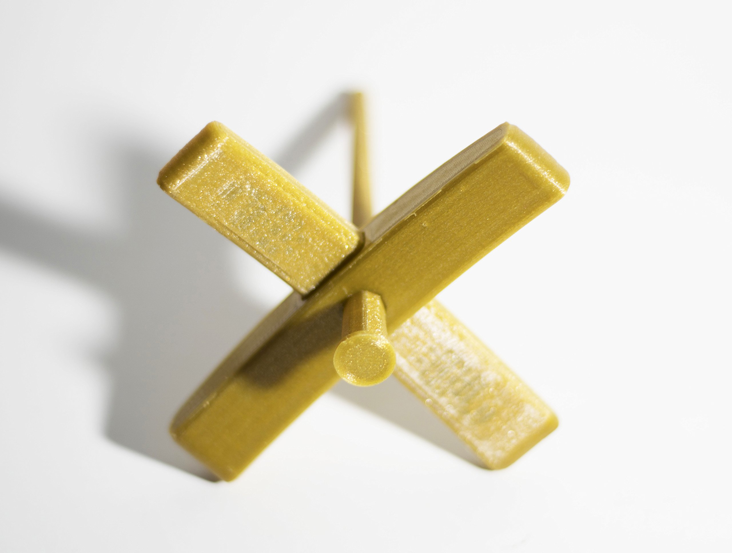 Happy Classy 3D Printed PLA Mini Turkish Spindle 5'' Length 4'' Width 0.7 oz Gold