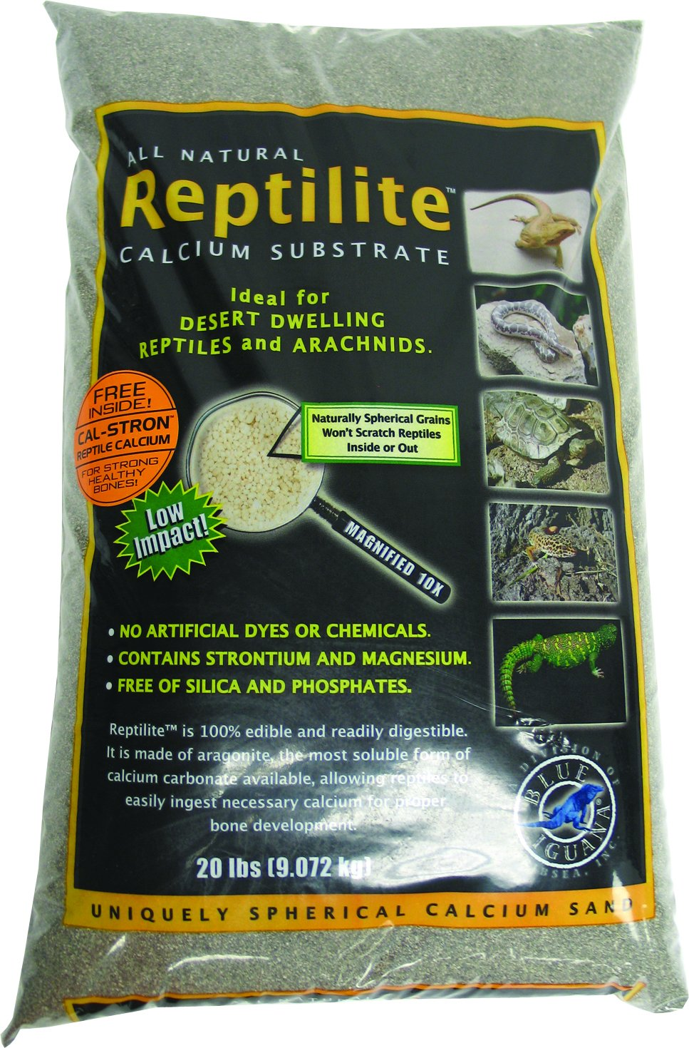 Carib Sea SCS00723 2-Pack Reptiles Calcium Substrate Sand, 20-Pound, Smokey Sands by Carib Sea