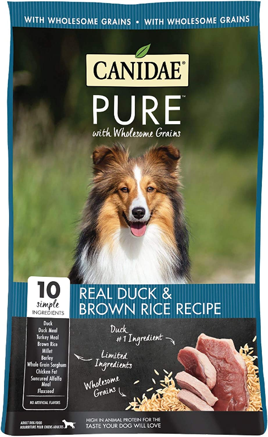 Canidae Pure Grain Duck Brown Rice Dog Food 24 lb