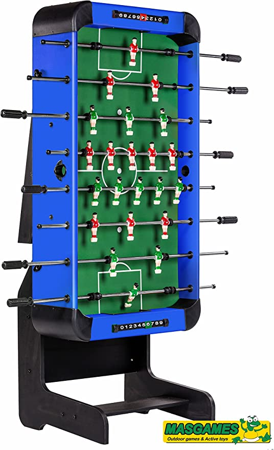 FUTBOLÍN PLEGABLE CITY BLUE: Amazon.es: Hogar