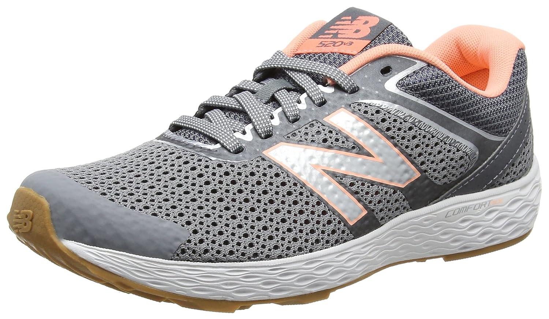 New Balance Women's W520V3 Running Shoe, GunmetalBleached SunriseThunder, 6.5 D US