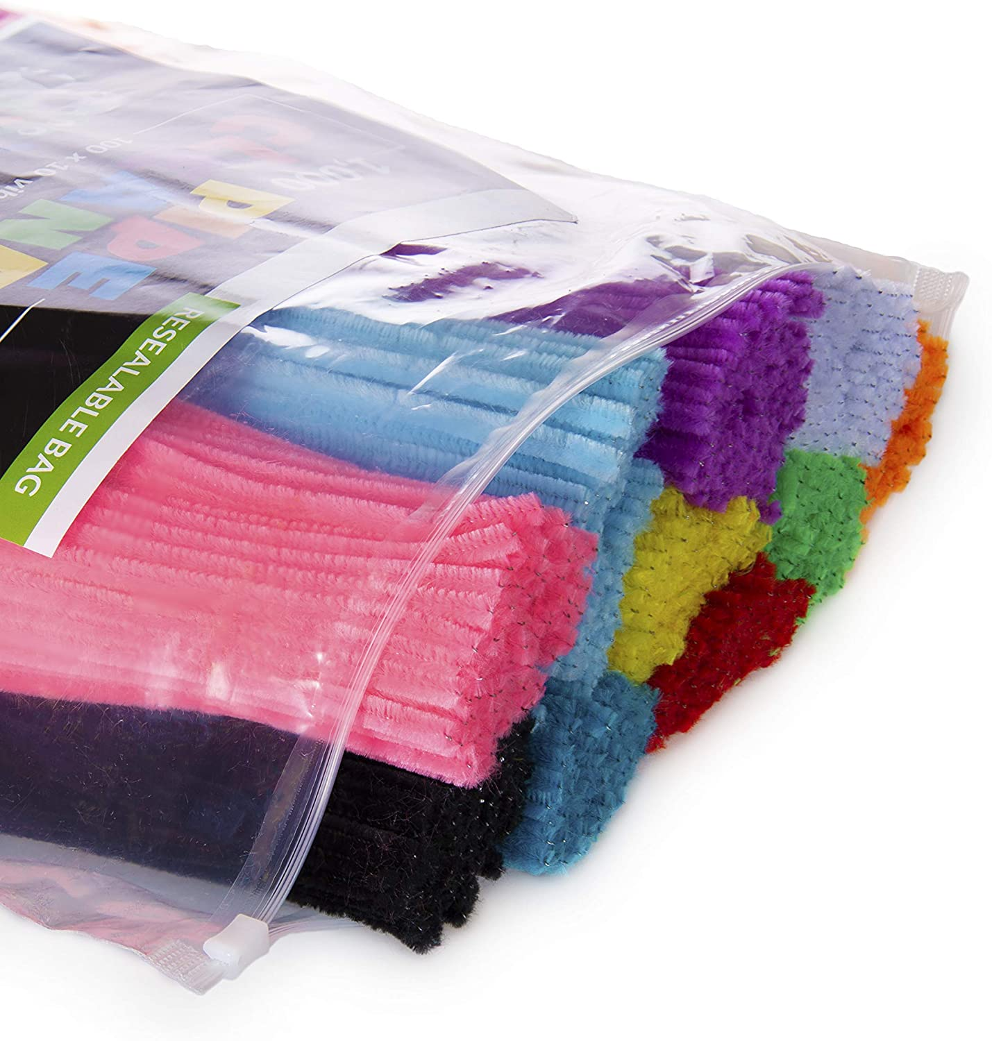 300mm One Size Multicultural Colours Asst Creation Stations CT4048 Loopy Pipe Cleaners