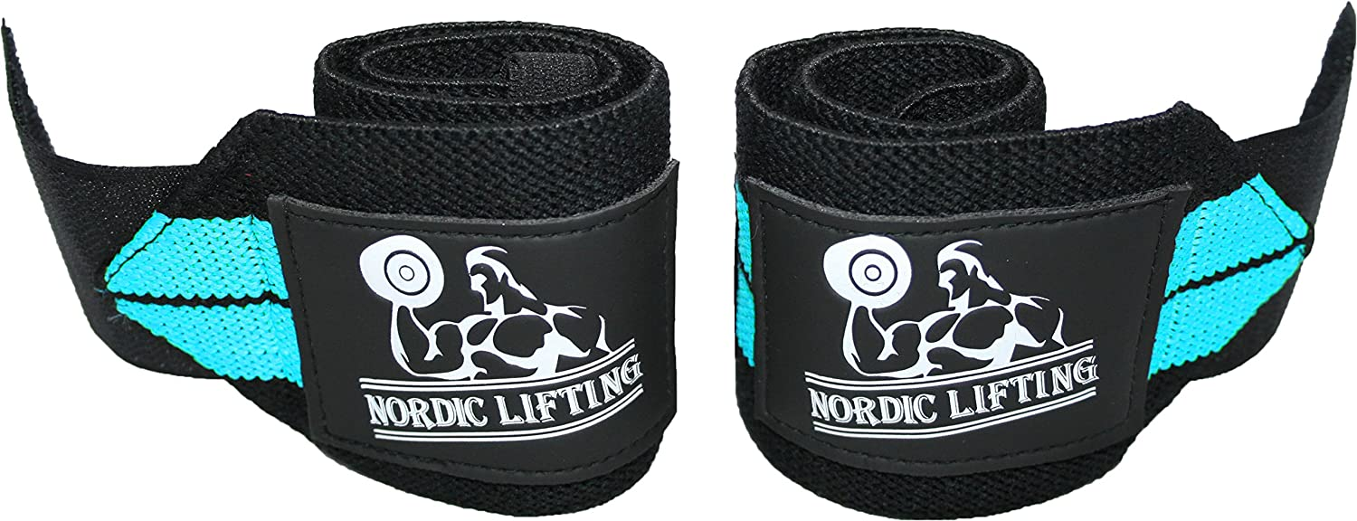 1 Pair//2 Wraps 1 Year Warranty Nordic Lifting Premium Quality Equipment for the Absolutely Best Hand Strength /& Support Wrist Wraps for Weightlifting//Cross Training//Powerlifting//Bodybuilding For Women /& Men