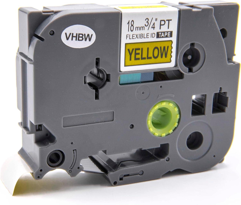 TZE-C41. H 500 Li vhbw Kassette Patronen Schriftband 18mm leuchtgelb f/ür Brother P-Touch H 500 RL 700 S wie TZ-C41 P 700