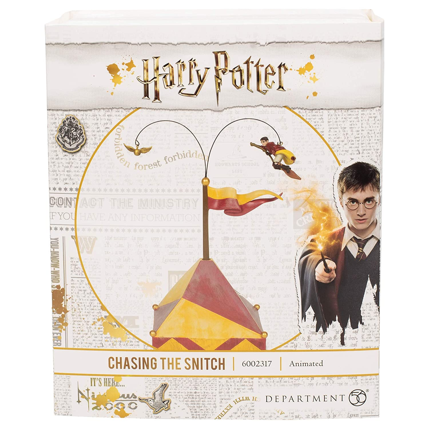 Department56 Harry Potter Village Accessories Chasing The Snitch Animated  Figurine, 9 84