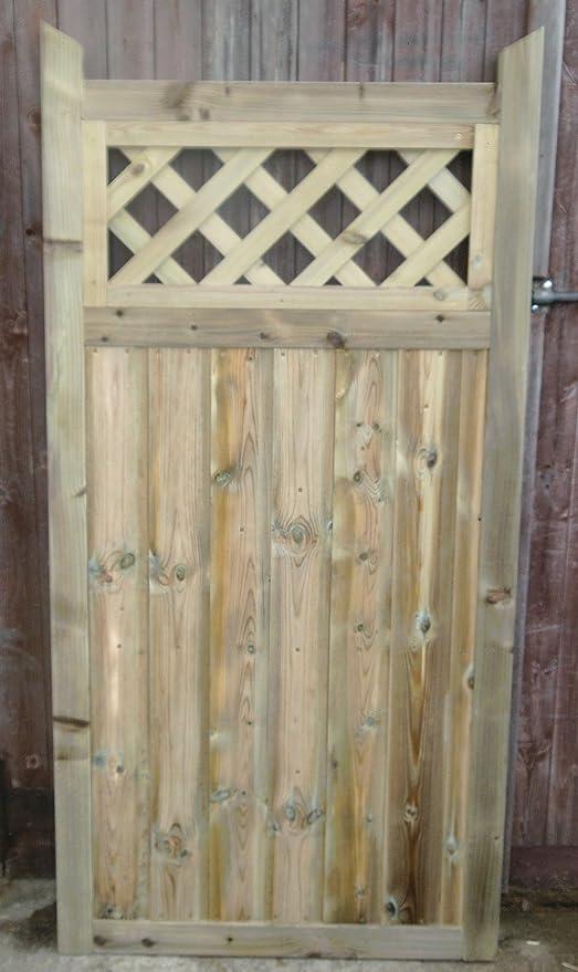 De madera valla de jardín hecho a mano Bespoke jardín enrejado puertas: Amazon.es: Bricolaje y herramientas
