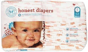 Amazon.com: The Honest Company Disposable Diapers, Giraffe, Size 1 ...