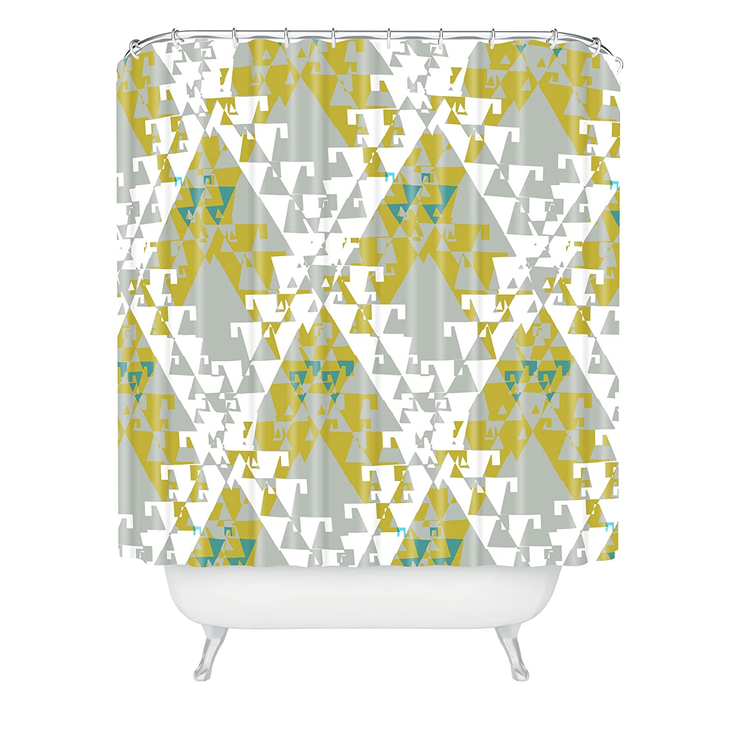 Deny Designs 71 by 74-Inch Bel Lefosse Design Geoethnic Shower Curtain Standard