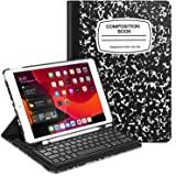 "Fintie Keyboard Case for iPad 7th Generation 10.2"" 2019-360 Degree Rotating Smart Stand Cover w/Pencil Holder, Built-in Wireless Bluetooth Keyboard for iPad 10.2"" Tablet, Composition Book Black"
