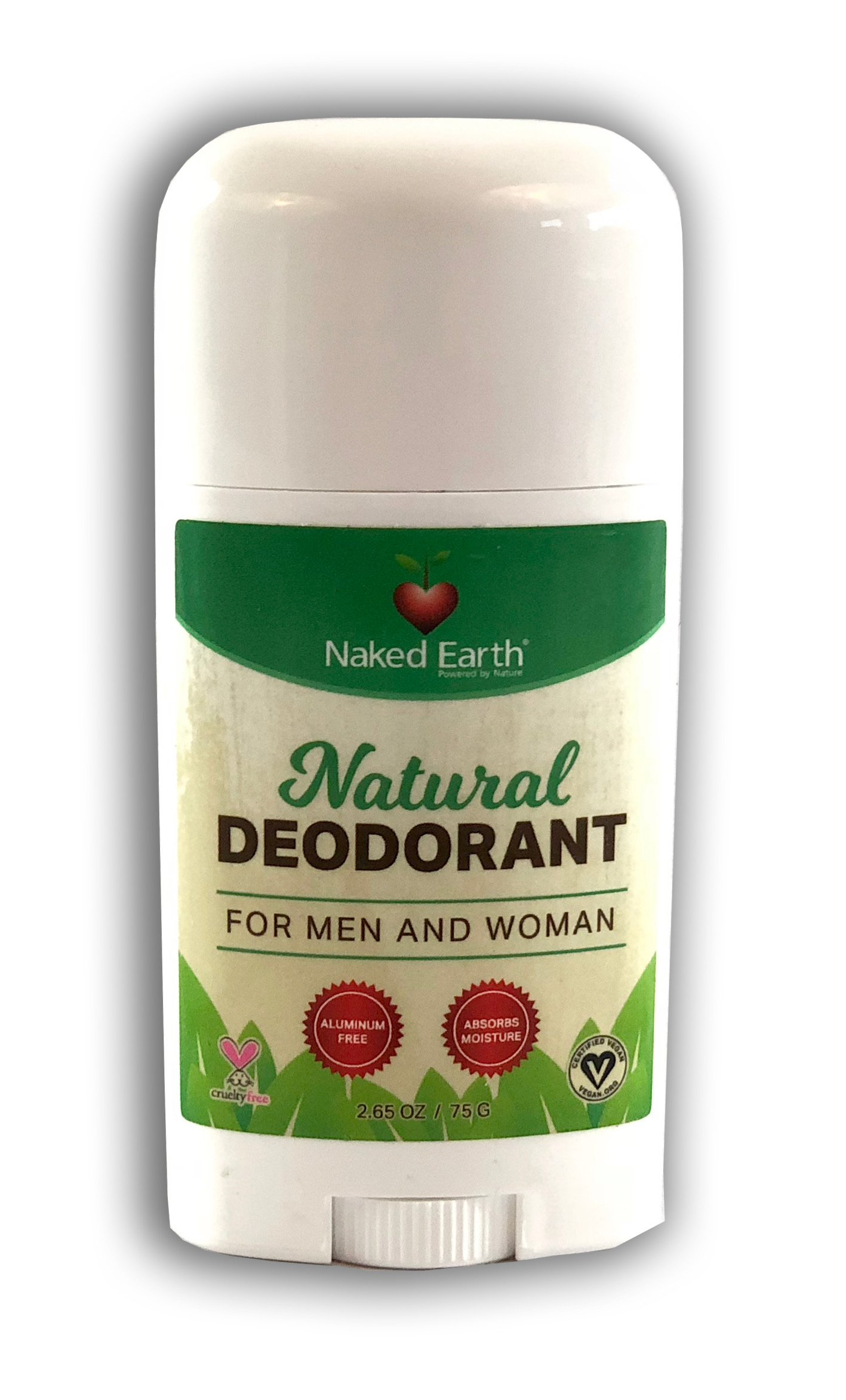 Naked Earth's Natural Deodorant For Men and Women, Guaranteed to Work! Aluminum Free!