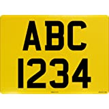 Square Registration Plate yellow