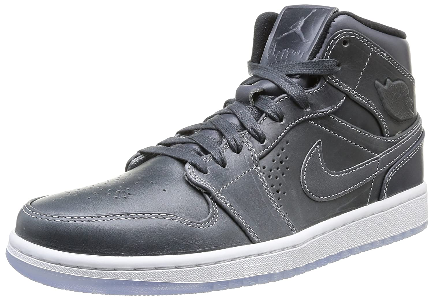 Nike Air Jordan 1 Mid 629151-004 Mens shoes B00MB4NHPS 8 D(M) US|Wolf Grey/Black/White