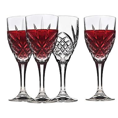 Godinger 25731 Dublin Crystal Set of 12 Goblets , Clear