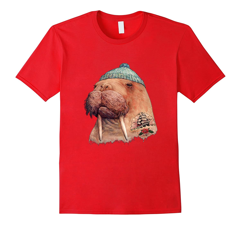 Tattooed Walrus Graphic T-Shirt-TH