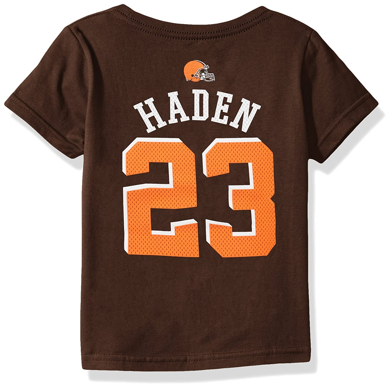 245cd67c NFL Boys 4-7 Joe Haden Cleveland Browns Boys -Mainliner Player Name Short  sleeve Tee, Brown Suede, M(5-6)