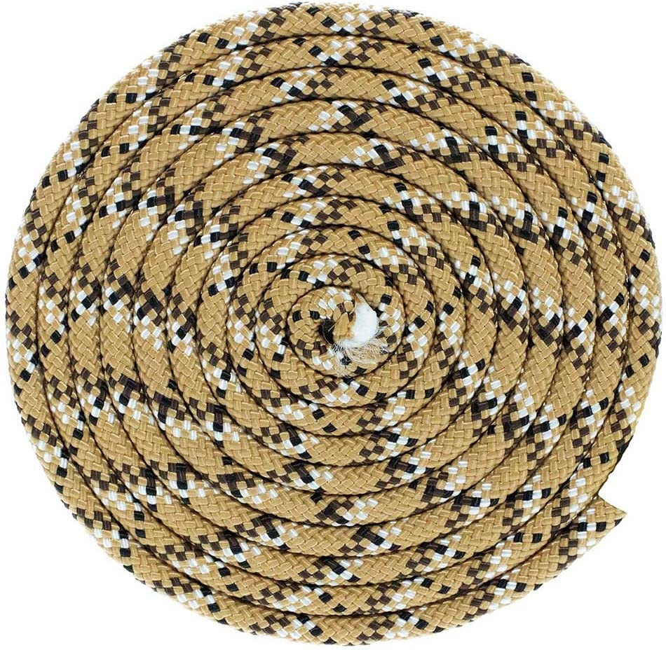 Black, 1//4 Inch, 50 Feet Nylon Utility Rope with Polypro Sheath