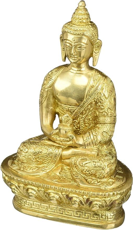 Mini Garden Accessories Meditation Buddha Statue Ceramic Figurine Home Dec ZF