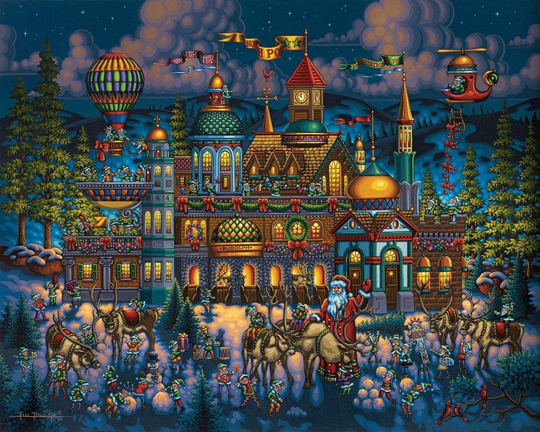 barato Jigsaw Puzzle - Santa's Workshop 500 500 500 Pc By Dowdle Folk Art by Dowdle Folk Art  salida para la venta