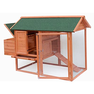 Merax Cedar Wood House Small Animals Chicken Coop with Tray