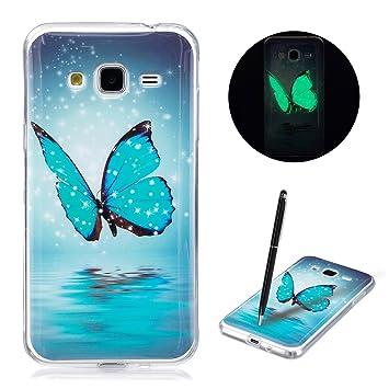 Caselover Funda Samsung J3 2016, Luminosa Silicona Carcasa para Samsung Galaxy J3 2016 J310 (5,0 Pulgadas) Fluorescente Suave TPU Flexible Case - ...