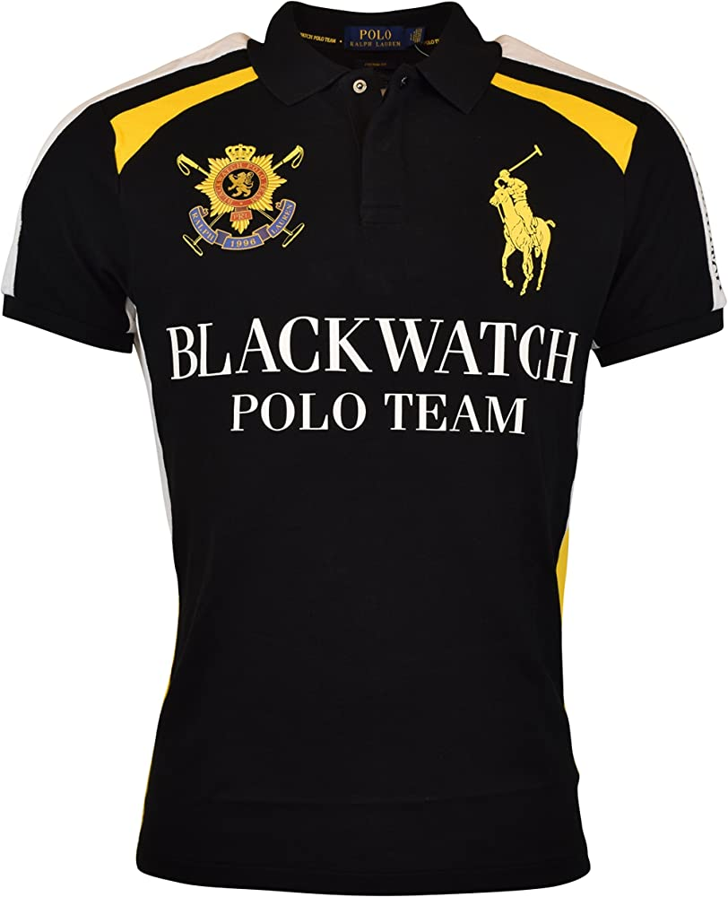 e9a27f61 Polo Ralph Lauren Mens Custom Fit Blackwatch Polo Shirt - S - Polo Black