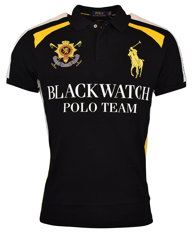 Ralph Lauren Polo Mens Custom Fit Blackwatch Polo Shirt At Amazon