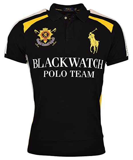 3f6d2b3fc38ce Polo Ralph Lauren Mens Custom Fit Blackwatch Polo Shirt - S - Polo Black