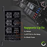 ONLINE LED STORE 12-Slot Relay Box [6 Relays] [6