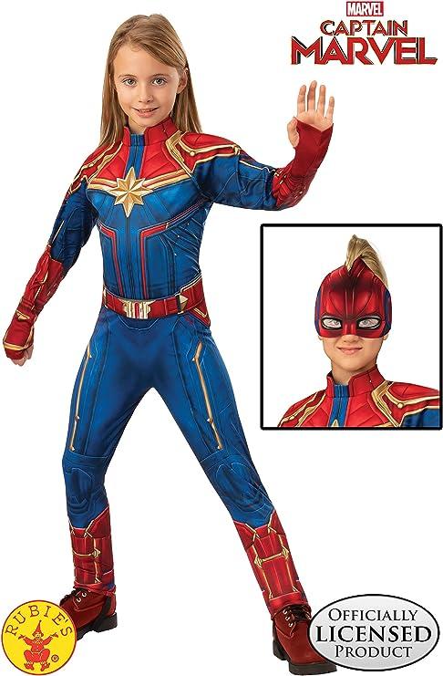 Officially Licensed Child size Female Captain Marvel Deluxe Super Hero Costume