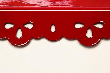 Color Crema y Rojo dise/ño con Texto en ingl/és Panera Premier Housewares