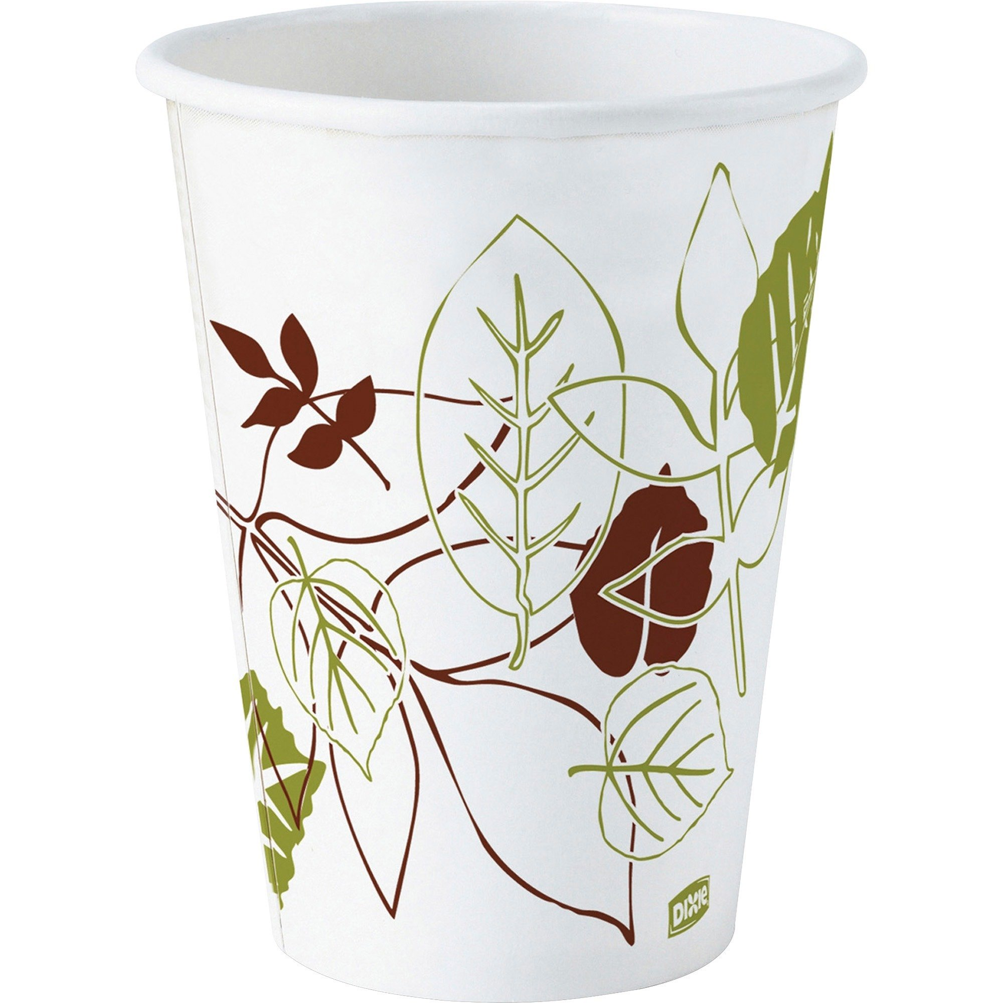 Dixie Pathways WiseSize Cup - 12oz - 500 / Carton - Paper - White
