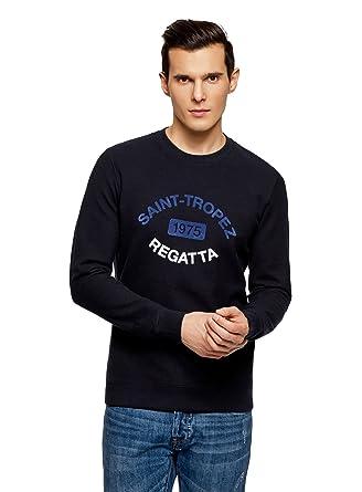 45fec927fee9 oodji Ultra Homme Sweat-Shirt en Coton avec Impression  Amazon.fr ...