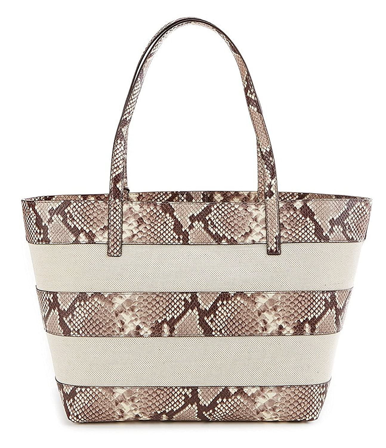 4cfd05c6d93186 Michael Michael Kors Tasseled Snake‑Print Striped Canvas Large: Handbags:  Amazon.com