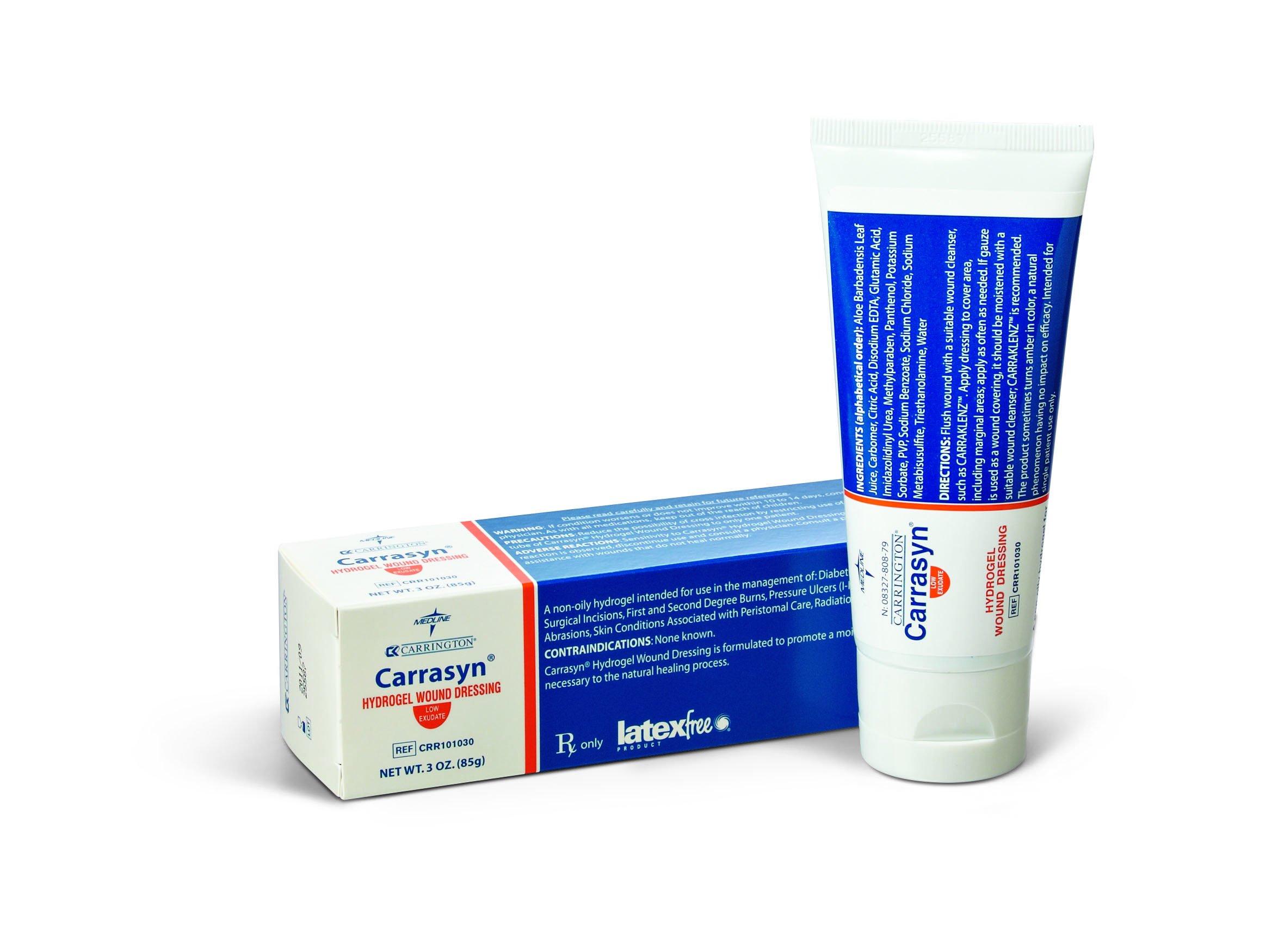 Medline Industries CRR101030 Carrasyn Hydrogel, 3 oz Tube, 12 Pack (Pack of 12) by Medline