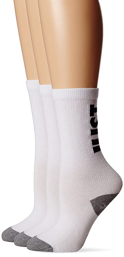 Nike Classic Just Do It - Calcetines para Mujer, Color Blanco/Negro/Gris