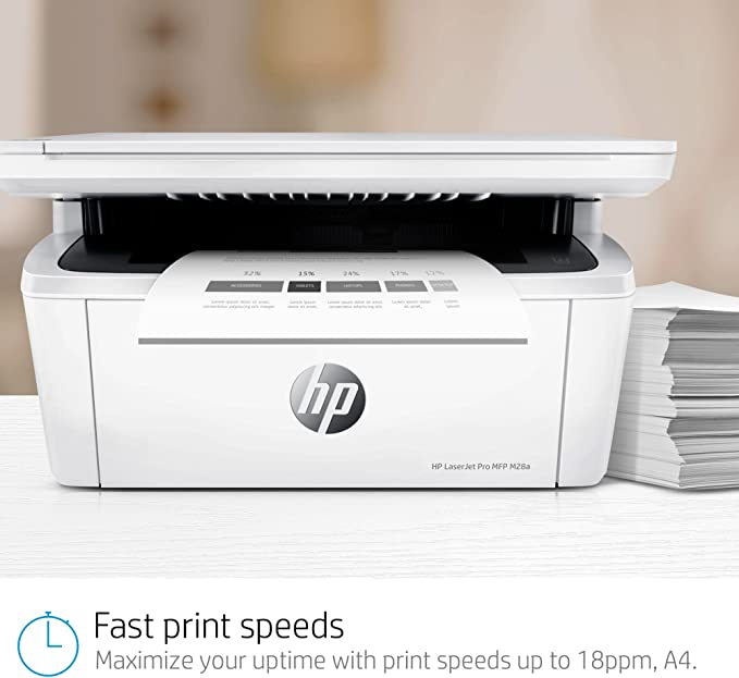 HP LaserJet Pro M28a - Impresora láser (USB 2.0, 18 ppm, memoria ...
